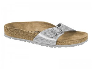 Papucs / Birkenstock Madrid Magic Snake Silver