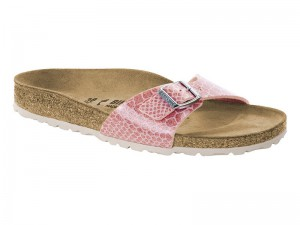 Papucs / Birkenstock Madrid Magic Snake Rose Lakk