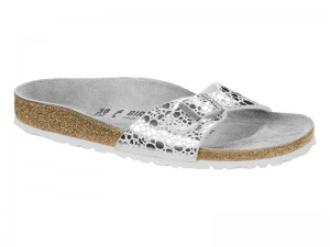 Outlet / Birkenstock Madrid Metallic Stones Silver