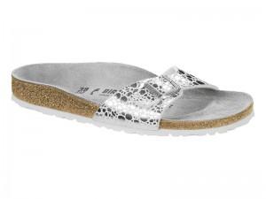 Papucs / Birkenstock Madrid Metallic Stones Silver