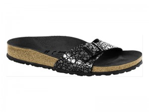 Egypántos papucs / Birkenstock Madrid Metallic Stones Black