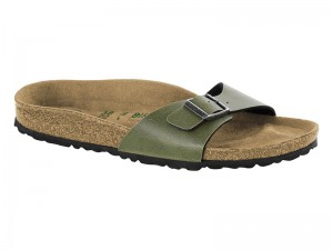 Outlet / Birkenstock Madrid Pull Up Olive Vegan