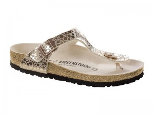 Outlet / Birkenstock Gizeh Metal Stones Copper