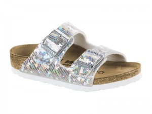 Papucs / Birkenstock Arizona Hologram silver
