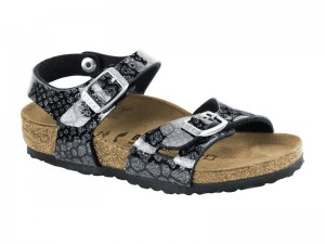 Outlet / Birkenstock Rio Magic Snake Black Silver
