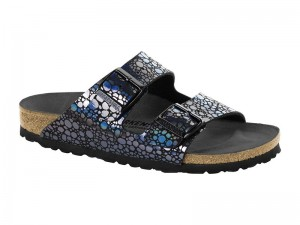 Papucs / Birkenstock Arizona Metal stones black