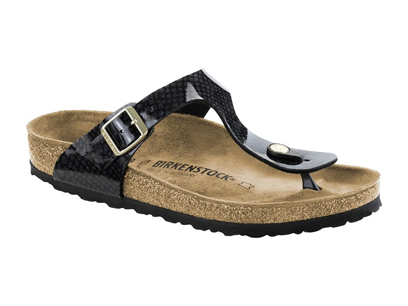 Birkenstock Gizeh Magic Snake Black Széles talp