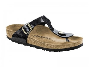 Outlet / Birkenstock Gizeh Magic Snake Black Széles talp