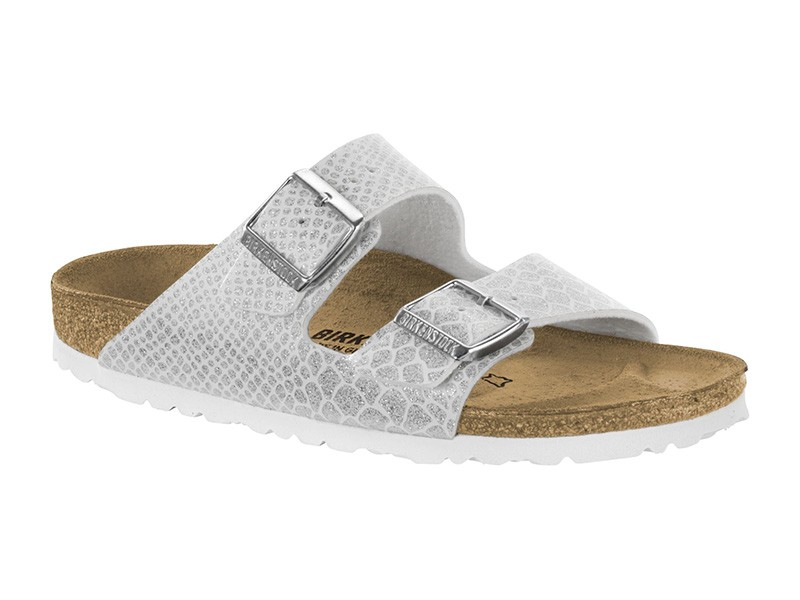 Birkenstock Arizona Magic Snake White lakk
