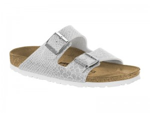 Papucs / Birkenstock Arizona Magic Snake White