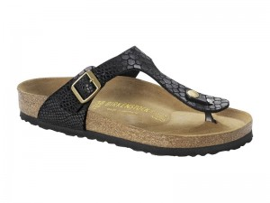 Made in Germany  Blúz / Birkenstock Gizeh Shiny snake Black