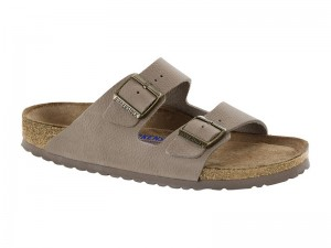 Outlet / Birkenstock Arizona Steer Taupe Bőr Soft Széles
