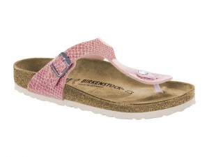 Papucs / Birkenstock Gizeh Magic snake rose