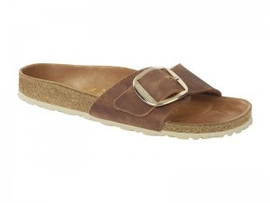 Egypántos papucs / Birkenstock Madrid Big Buckle Cognac Bőr