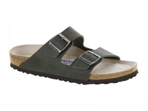 Outlet / Birkenstock Arizona Desert Soil Green Soft Széles