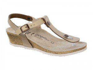 Outlet / Birkenstock Ashley Bőr Metallic Rose