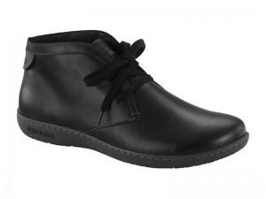 Outlet / Birkenstock Scarba Black Bőr Széles
