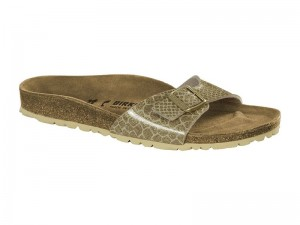 Papucs / Birkenstock Madrid Magic Snake Gold Lakk
