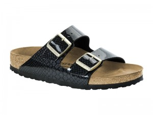 Papucs / Birkenstock Arizona Magic Snake Black széles talp