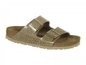 Papucs / Birkenstock Arizona Magic Snake Gold lakk