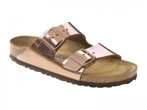 Outlet / Birkenstock Arizona Metallic Copper Rose Bőr Soft
