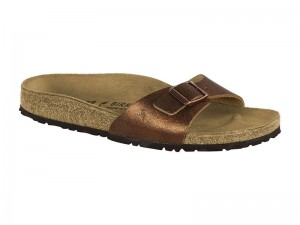 Outlet / Birkenstock Madrid Metallic Copper Bőr