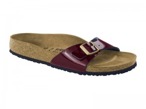 Outlet / Birkenstock Madrid Two Tone Wine Széles talp