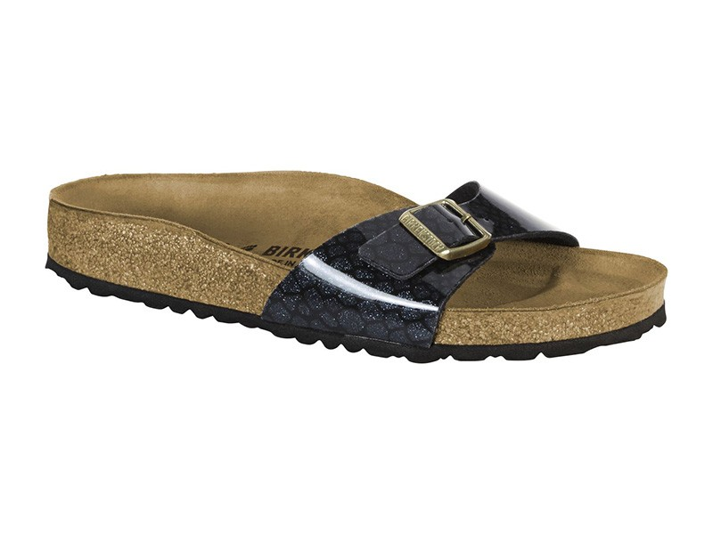 Birkenstock Madrid Magic Snake Black Lakk