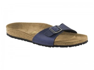 Outlet / Birkenstock Madrid Pull Up Navy Széles