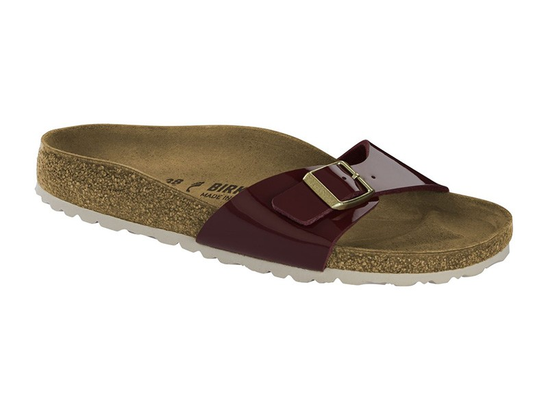 Birkenstock Madrid Bordeaux lakk