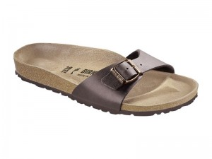 Papucs / Birkenstock Madrid Dark Brown Széles
