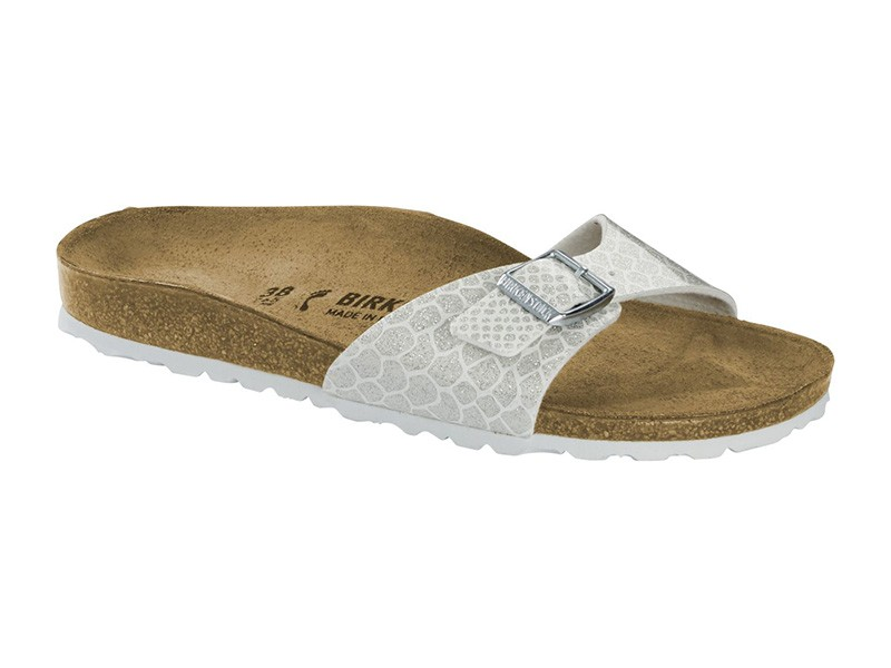 Birkenstock Madrid Magic Snake White lakk