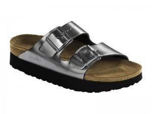 Papucs / Papillio Arizona Metallic Silver Bőr