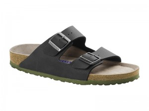 Outlet / Birkenstock Arizona Desert Soil Black Soft Széles