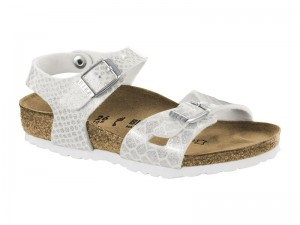 Outlet / Birkenstock Rio Magic Snake White Széles