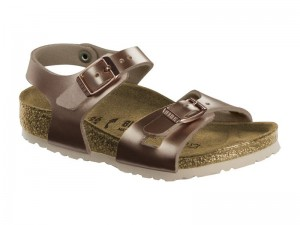 Outlet / Birkenstock Rio Metallic Copper