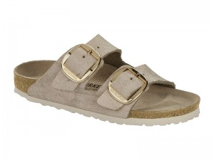 Papucs / Birkenstock Arizona Big Buckle Rose Gold Bőr