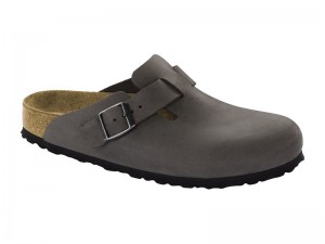 Klumpa / Birkenstock Boston Iron Bőr Soft Széles