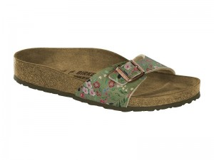 Outlet / Birkenstock Madrid Flower Khaki