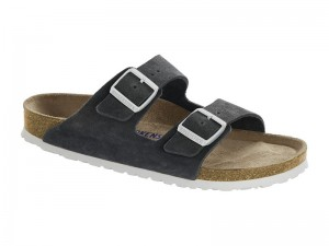 Outlet / Birkenstock Arizona Gunmetal Velur Soft