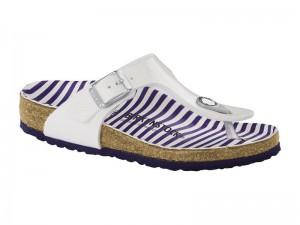 Termékek / Birkenstock Gizeh Stripes White Széles
