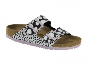 Papucs / Birkenstock Arizona Dots Black White