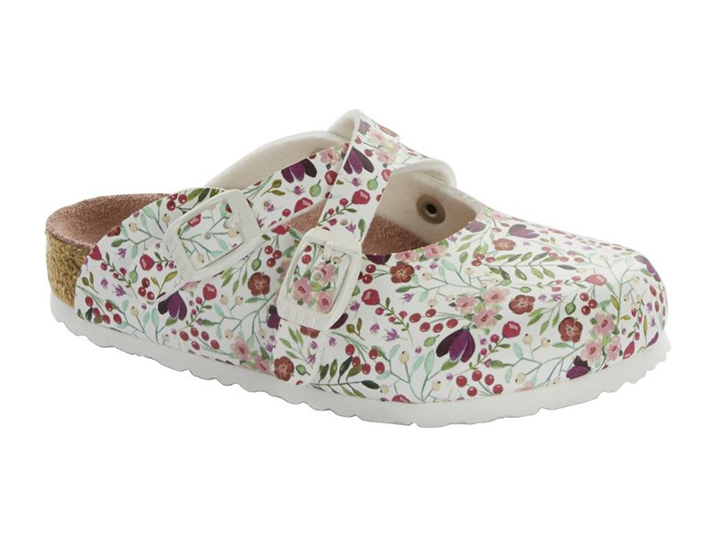 Birkenstock Dorian Meadow Flowers White