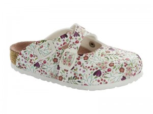 Klumpa / Birkenstock Dorian Meadow Flowers White