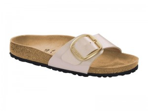 Papucs / Birkenstock Madrid Big Buckle Pearl White