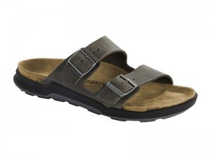 Outlet / Birkenstock Arizona CT Iron Bőr Széles