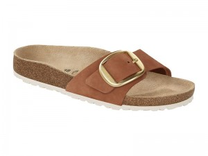 Papucs / Birkenstock Madrid Big Buckle Brandy Nubuk