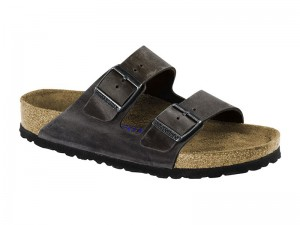 Papucs / Birkenstock Arizona Iron Bőr Soft