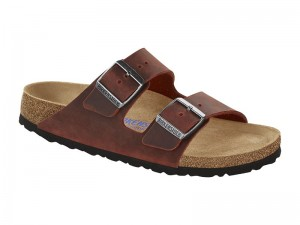 Papucs / Birkenstock Arizona Earth Red Bőr Széles Soft
