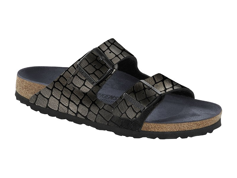 Birkenstock Arizona Gator Gleam Black